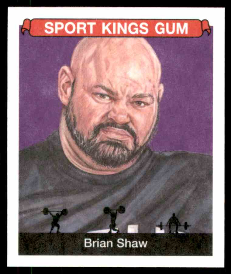 2018 Sportkings Black Back Retail Mini Brian Shaw #19 card front image