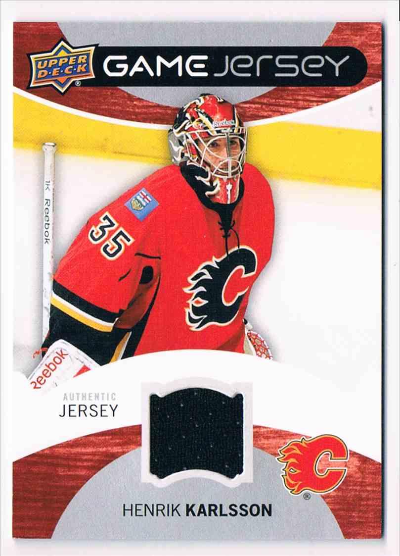 2012-13 Upper Deck Game Jersey Henrik Karlsson #GJ-HK card front image