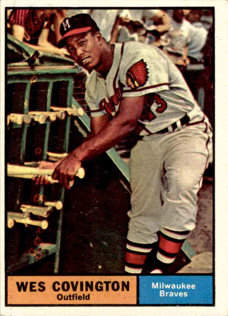 1961 Topps Wes Covington #296 card front image