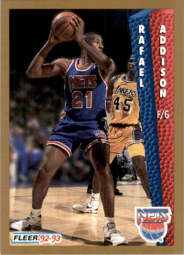 1992-93 Fleer Rafael Addison #385 card front image