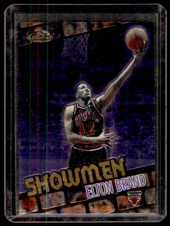2000-01 Finest Showmen Elton Brand #S2 card front image