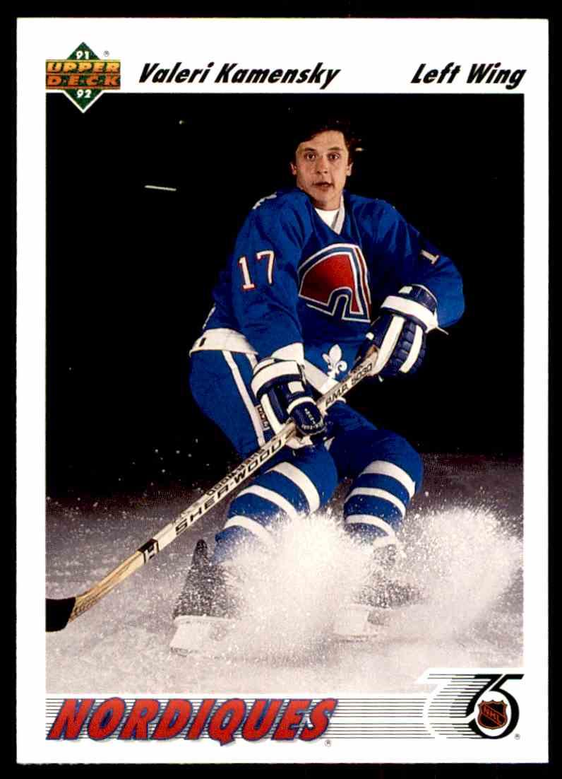 1991-92 Upper Deck Valeri Kamensky #273 card front image