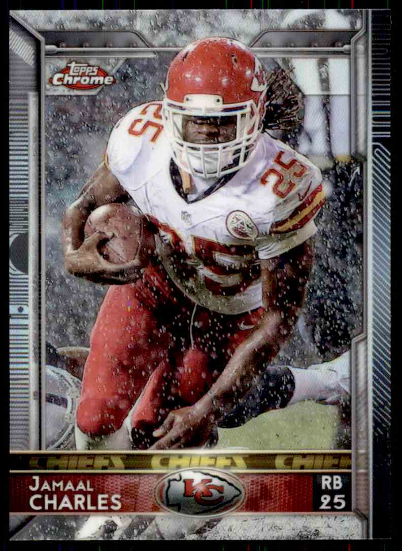 2015 Topps Chrome Refractor Jamaal Charles #7 card front image