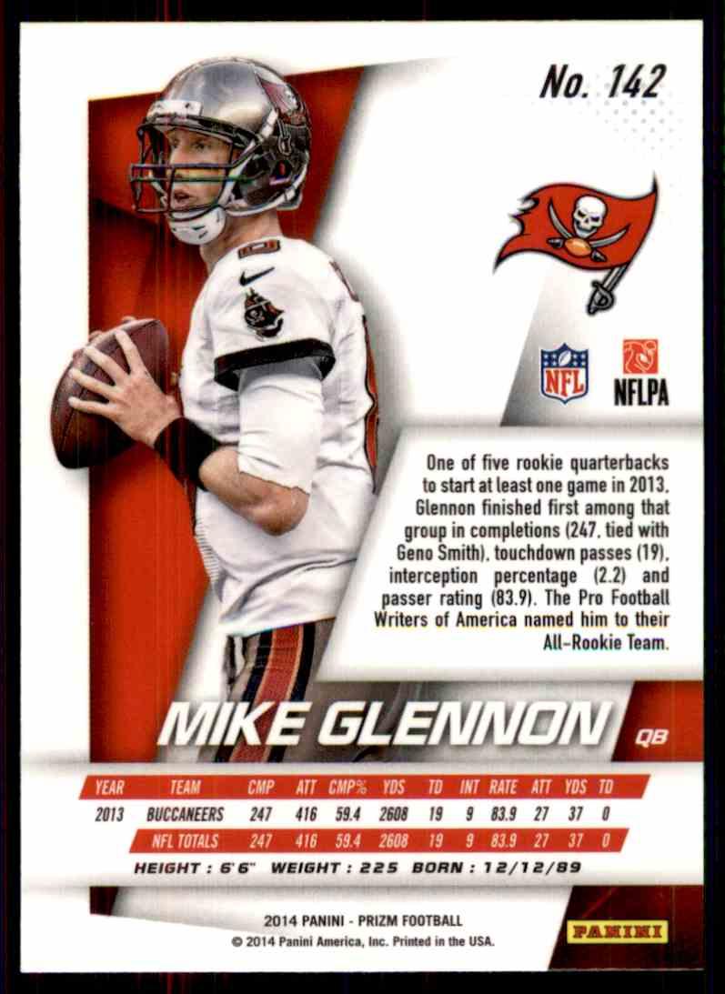 2014 Prizm Mike Glennon #142 card back image