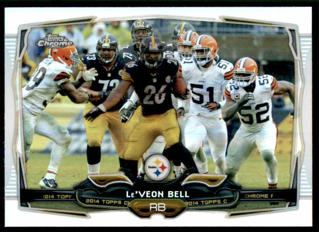 2014 Topps Chrome Refractors Le'Veon Bell #50 card front image