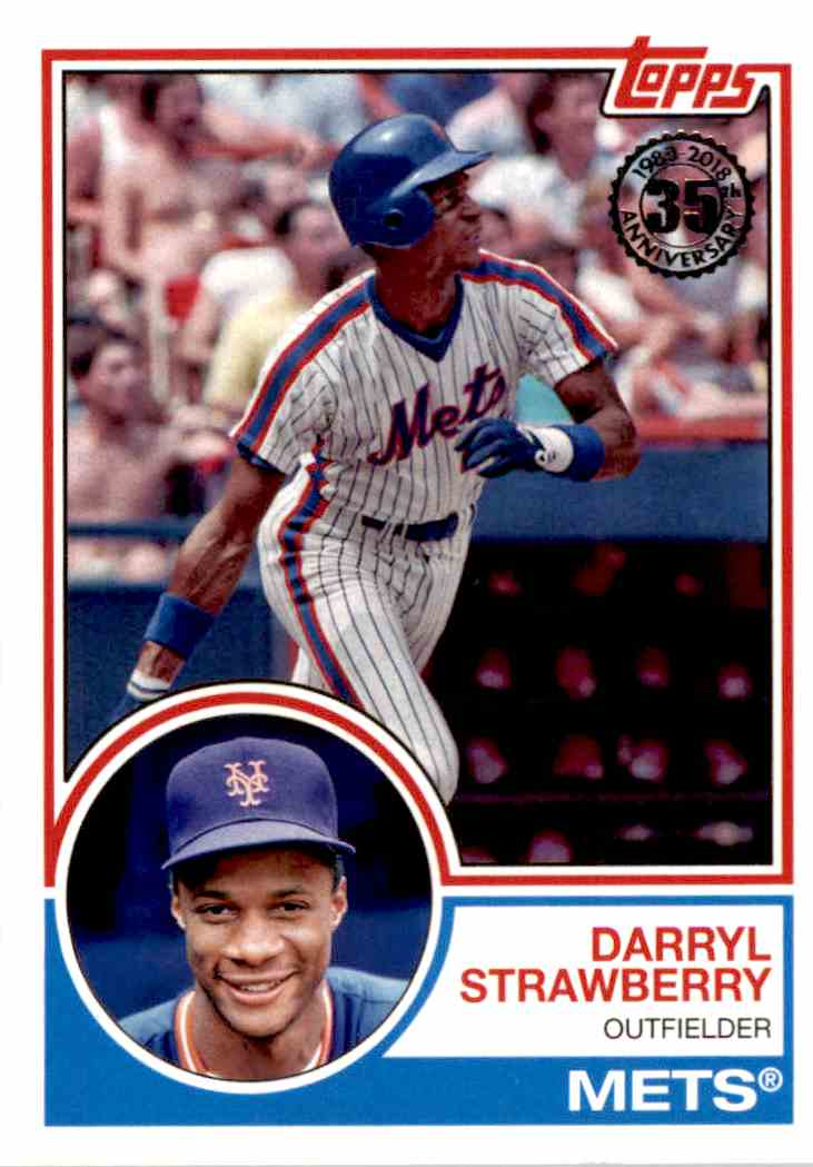 2018 Topps 1983 Style Darryl Strawberry On Kronozio