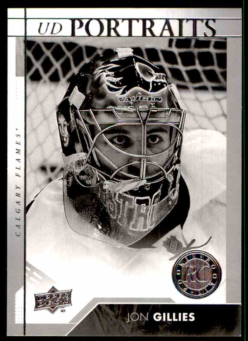 2017-18 Upper Deck Portraits Jon Gillies #P-63 card front image