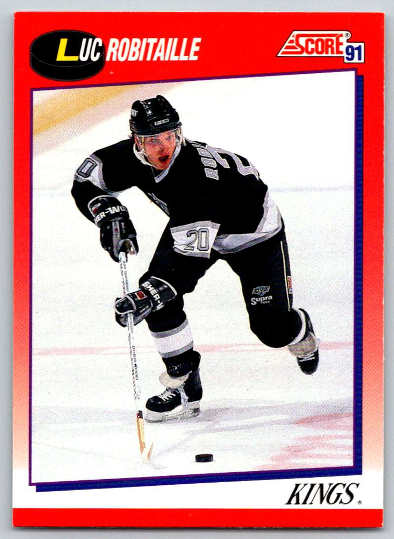 1991-92 Score Canadian Bilingual Luc Robitaille #3 card front image