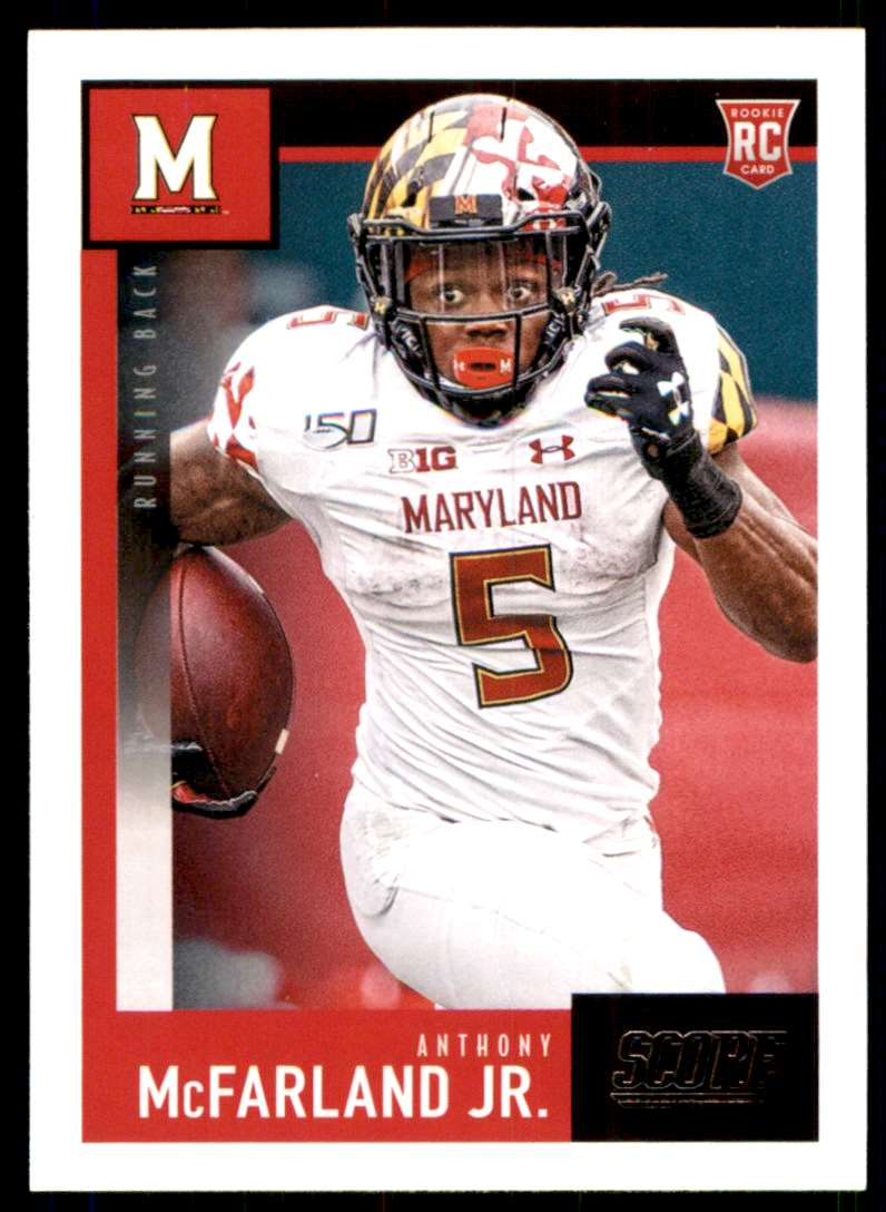 2020 Score Anthony McFarland JR. RC #372 card front image