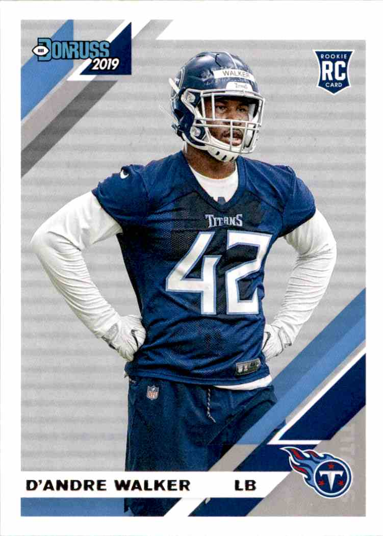 2019 Panini Donruss D'Andre Walker #291 card front image