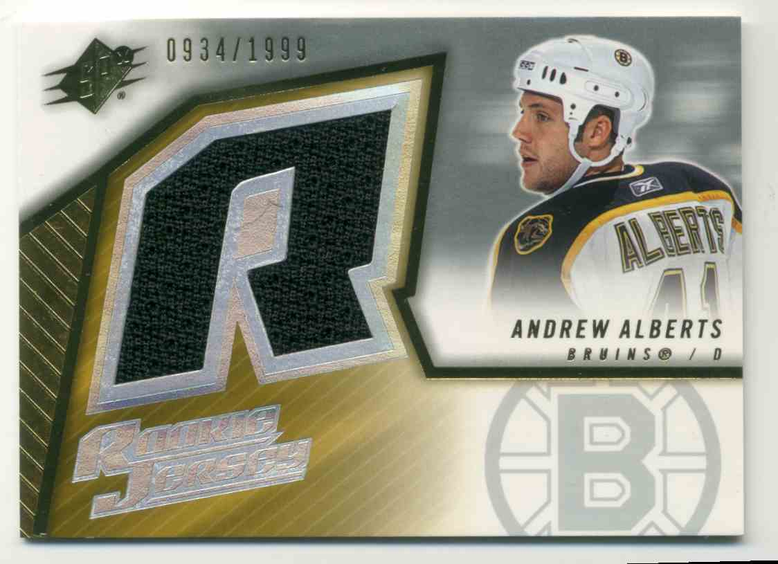 2005-06 Upper Deck SPx Andrew Albert #137 card front image