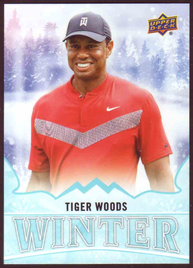 2019-20 Upper Deck Singles Day Winter Bounty Tiger Woods #W8 card front image