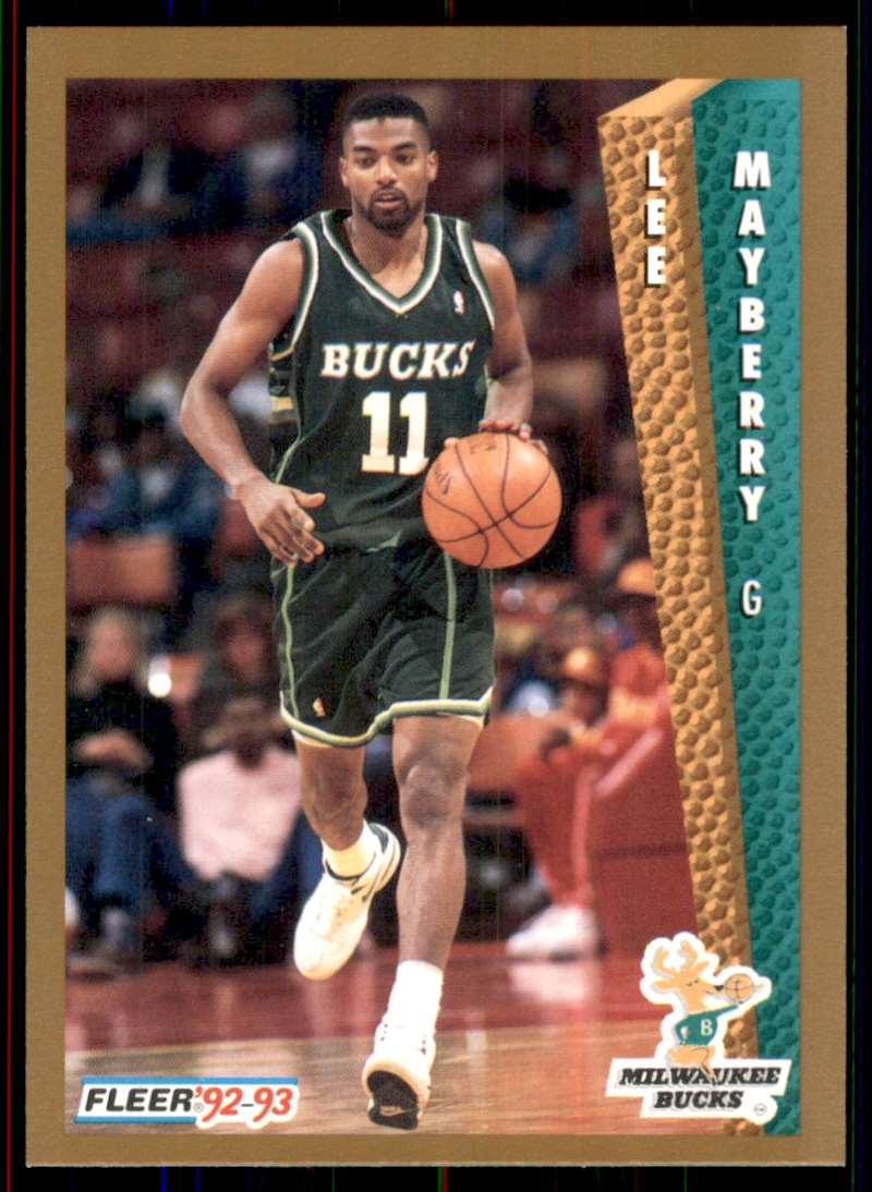 1992-93 Fleer Lee Mayberry RC #375 card front image