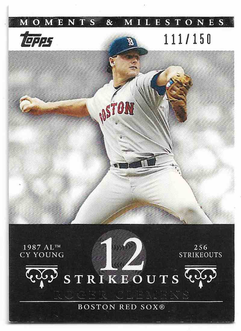 2007 Topps Moments & Milestones Roger Clemens #BLACK 20-12 card front image