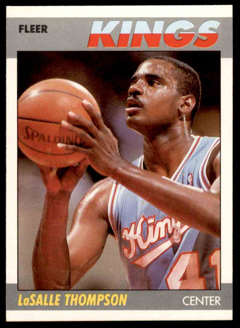 1987-88 Fleer Basketball LaSalle Thompson #107 card front image