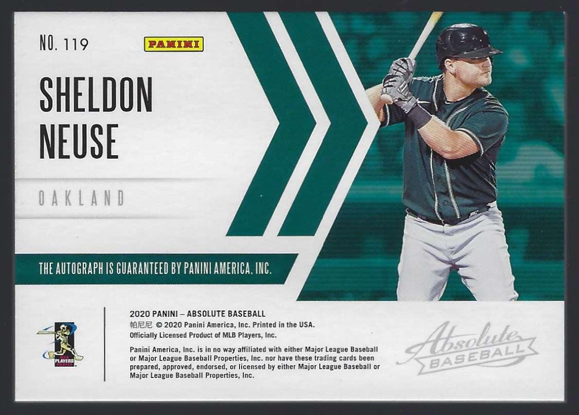 2020 Absolute Black Gold Sheldon Neuse #119 card back image