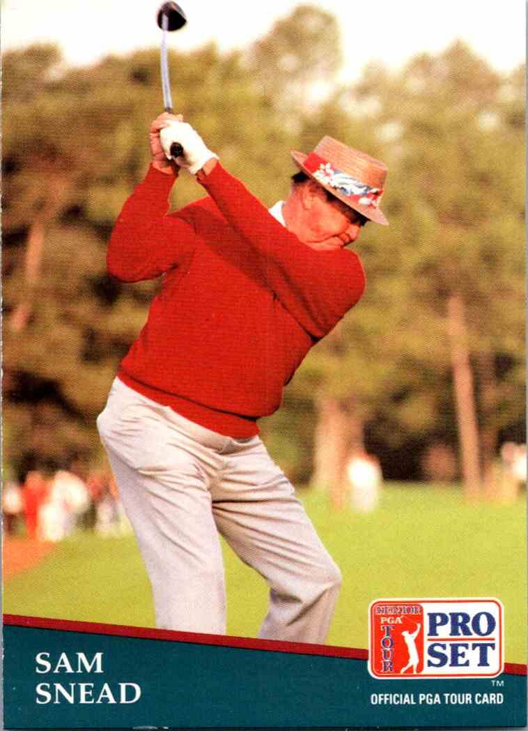 1991 Pro Set Sam Snead #235 card front image