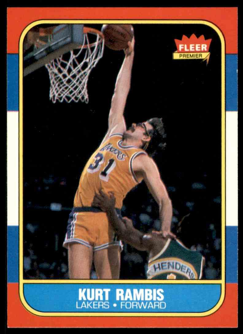 1986-87 Fleer Kurt Rambis-1 #89 OF 132 card front image