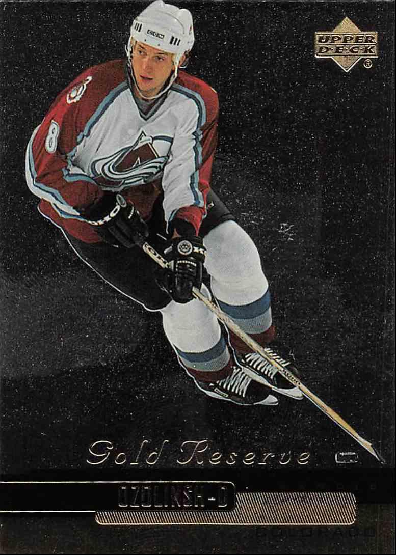 1999-00 Upper Deck Gold Reserve Sandis Ozolinsh #213 card front image