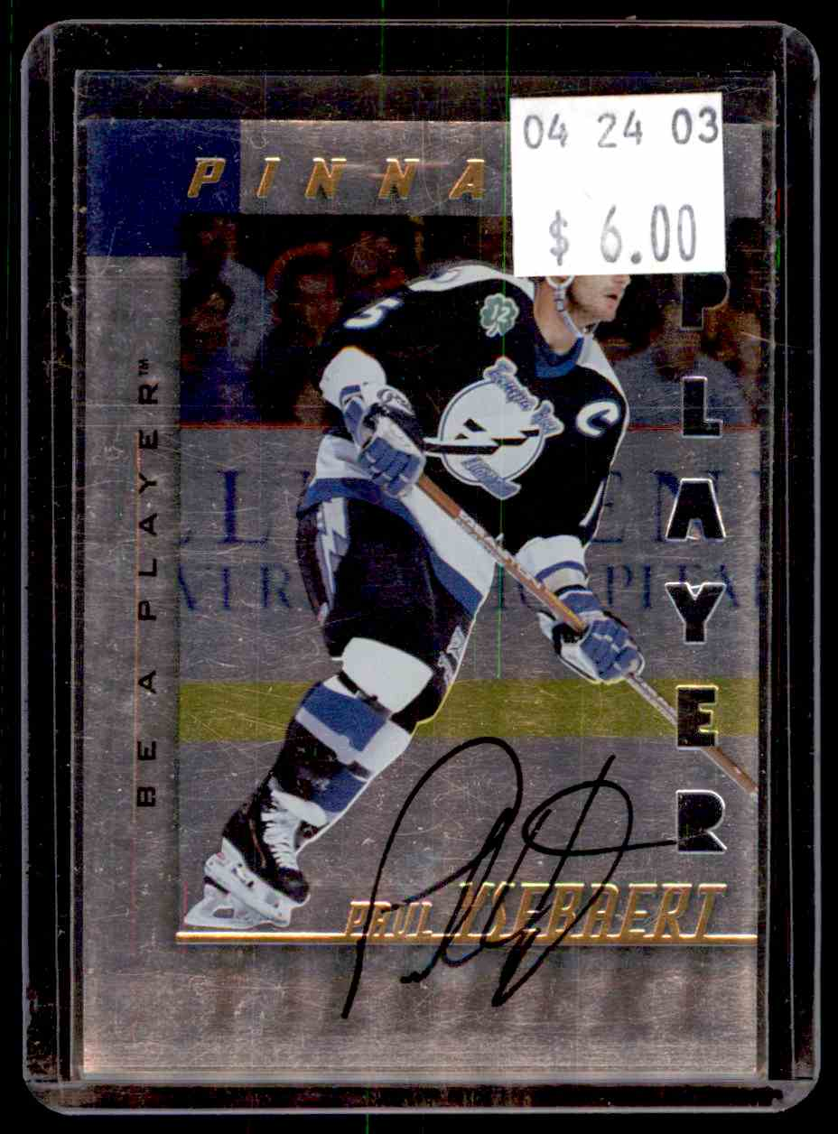 1997-98 Be A Player Autographs Die Cut Paul Ysebaert #163 card front image