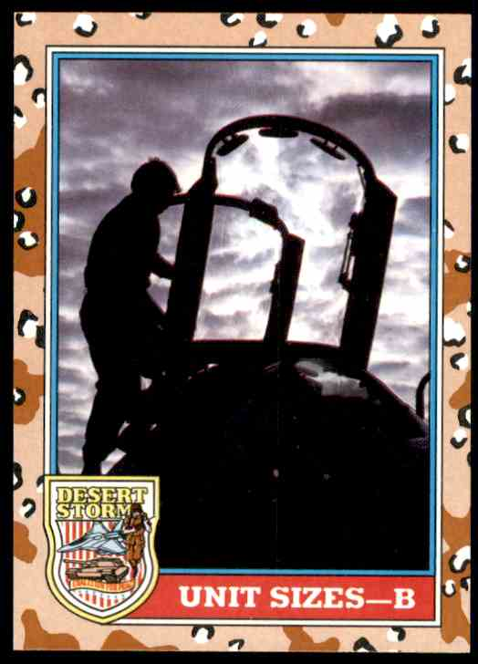 1991 Desert Storm Topps Unit Sizes - B #142 card front image