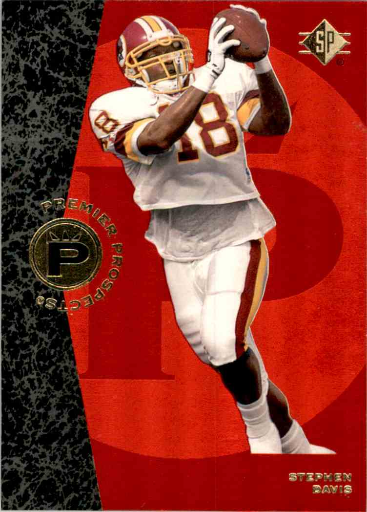 1996 SP Stephen Davis #20 card front image
