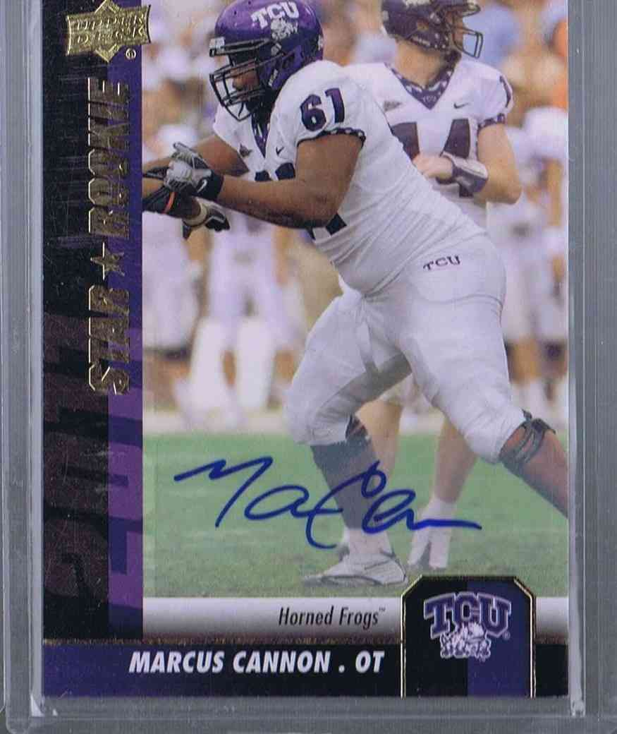2011 Upper Deck Football Marcus Cannon #109 card front image