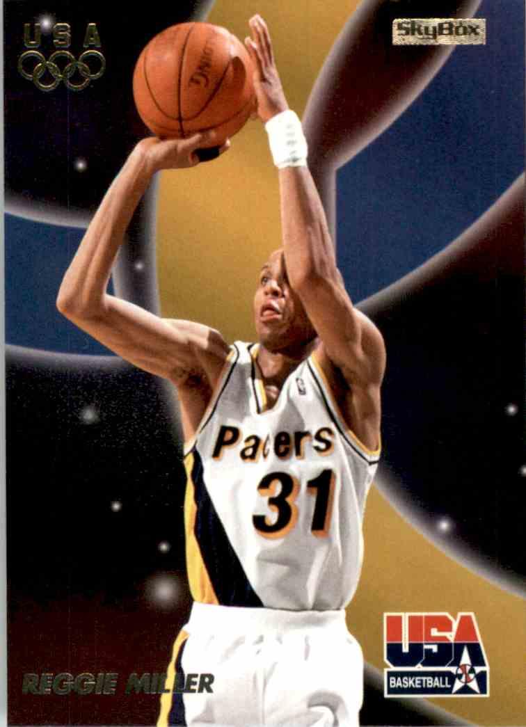 1996-97 SkyBox USA Reggie Miller #14 card front image