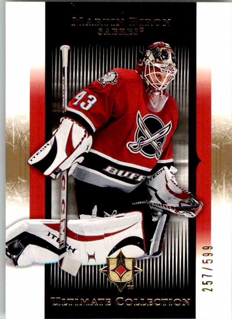 2005-06 Upper Deck Ultimate Collection Martin Biron #13 card front image