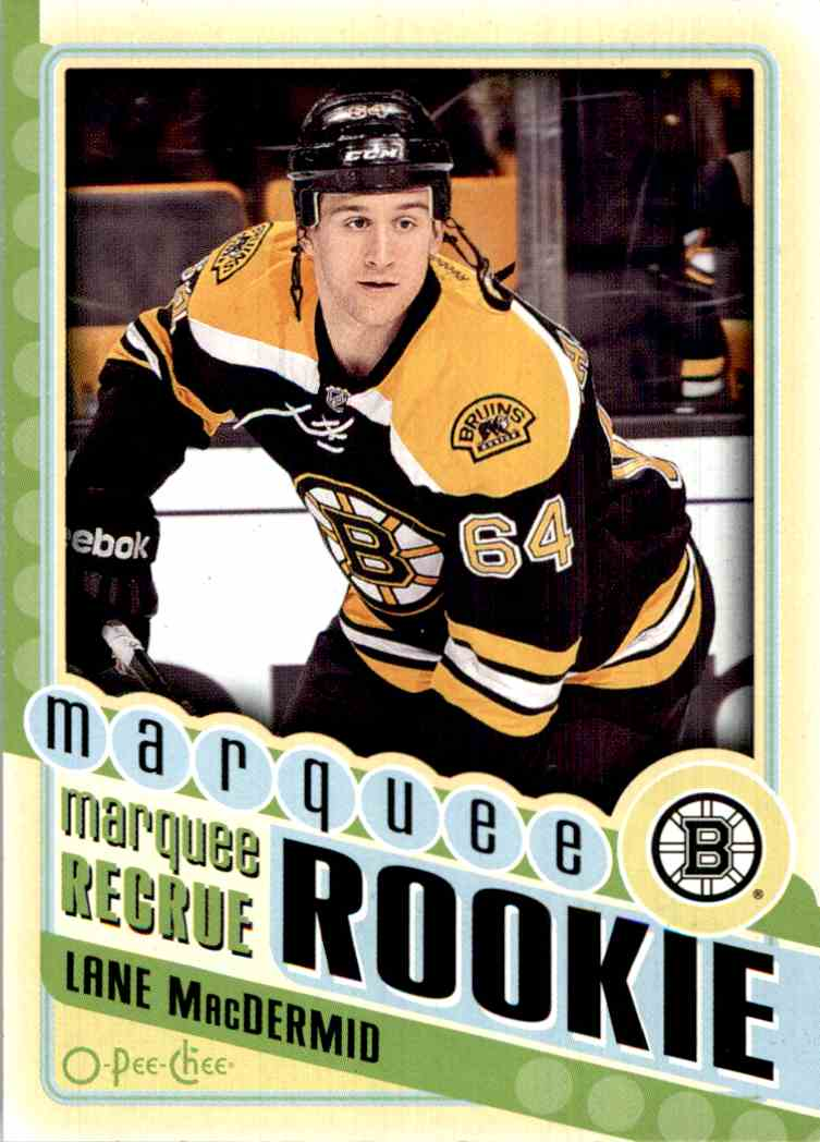 2012-13 O-Pee-Chee Marquee Rookie Lane Macdermid #554 card front image