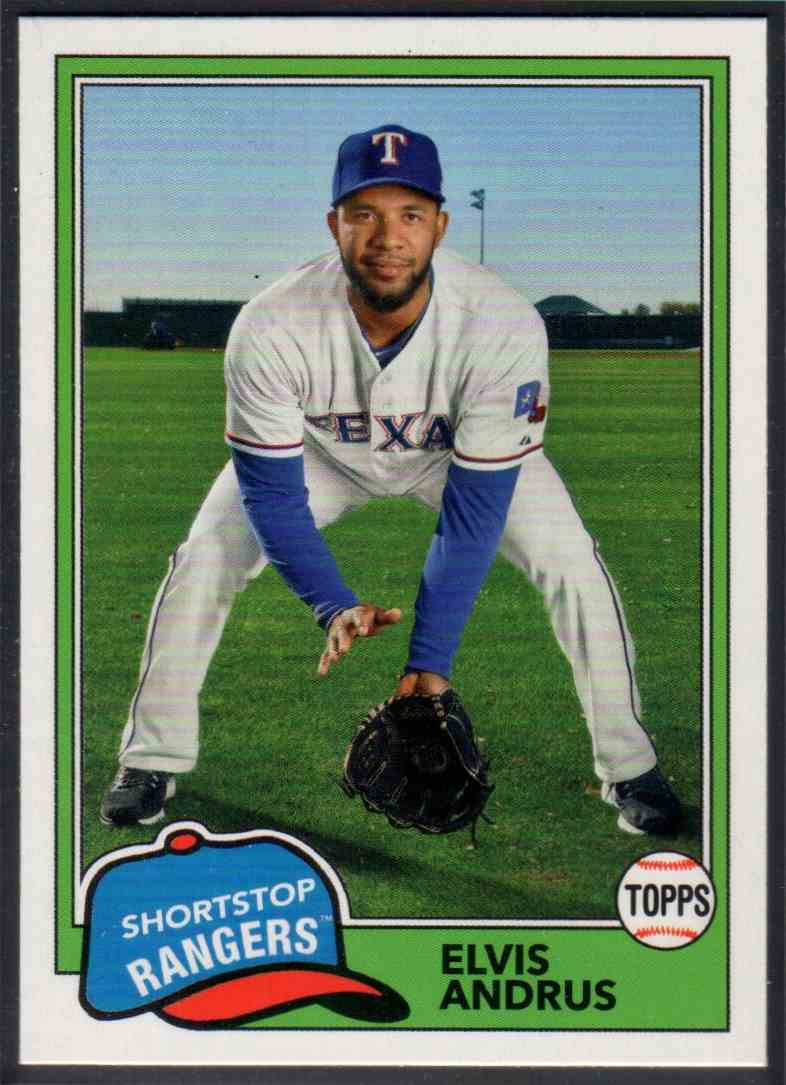 2018 Topps Archives Elvis Andrus #260 card front image