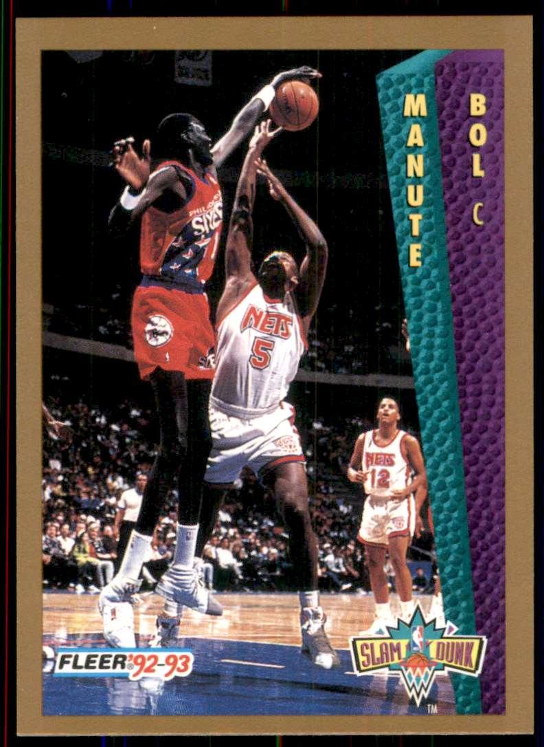 1992-93 Fleer Manute Bol Sd #285 card front image