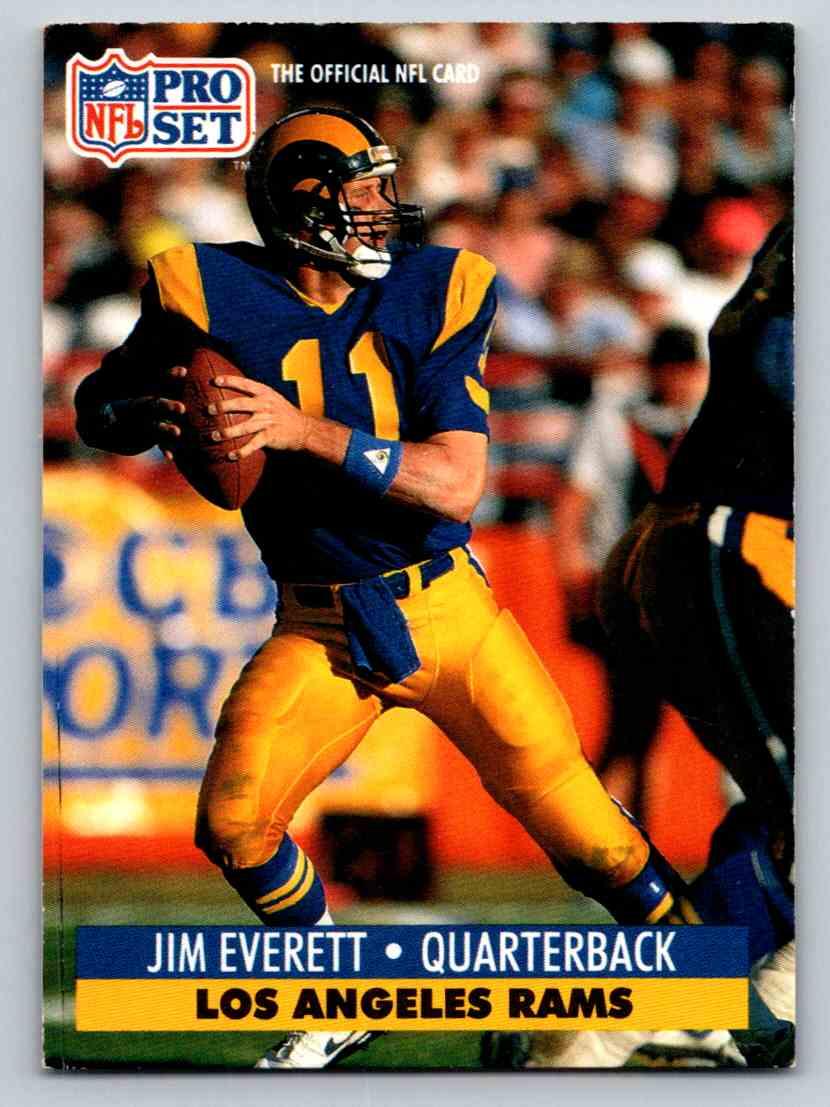 1991 NFL Pro Set Jim Everett #200 card front image