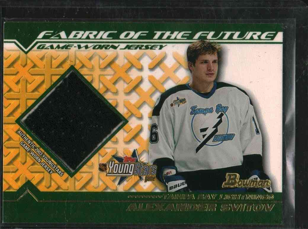 2003-04 Topps Young Star Alexander Svitov #FFJ-AS card front image