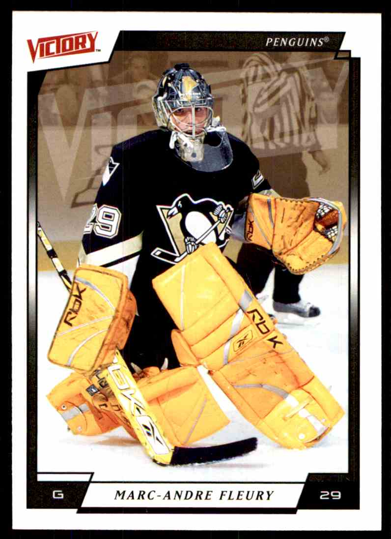2006-07 Upper Deck Victory Marc-Andre Fleury #159 card front image