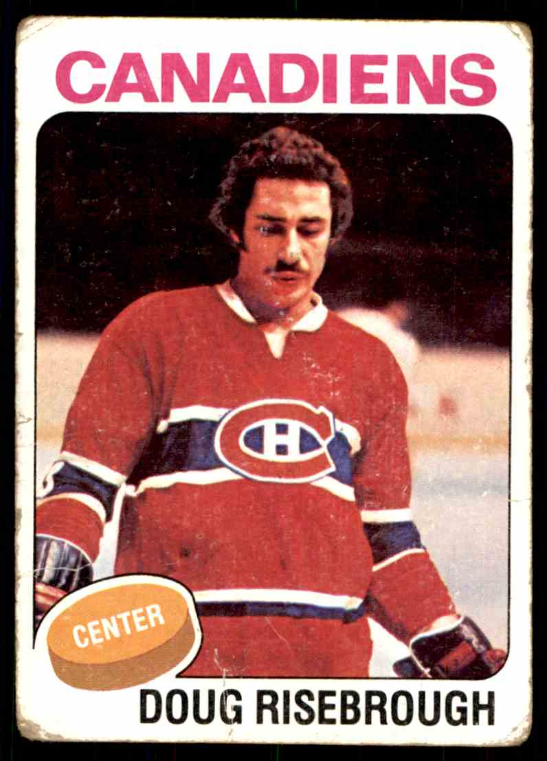 1975-76 Topps Doug Risebrough #107 card front image