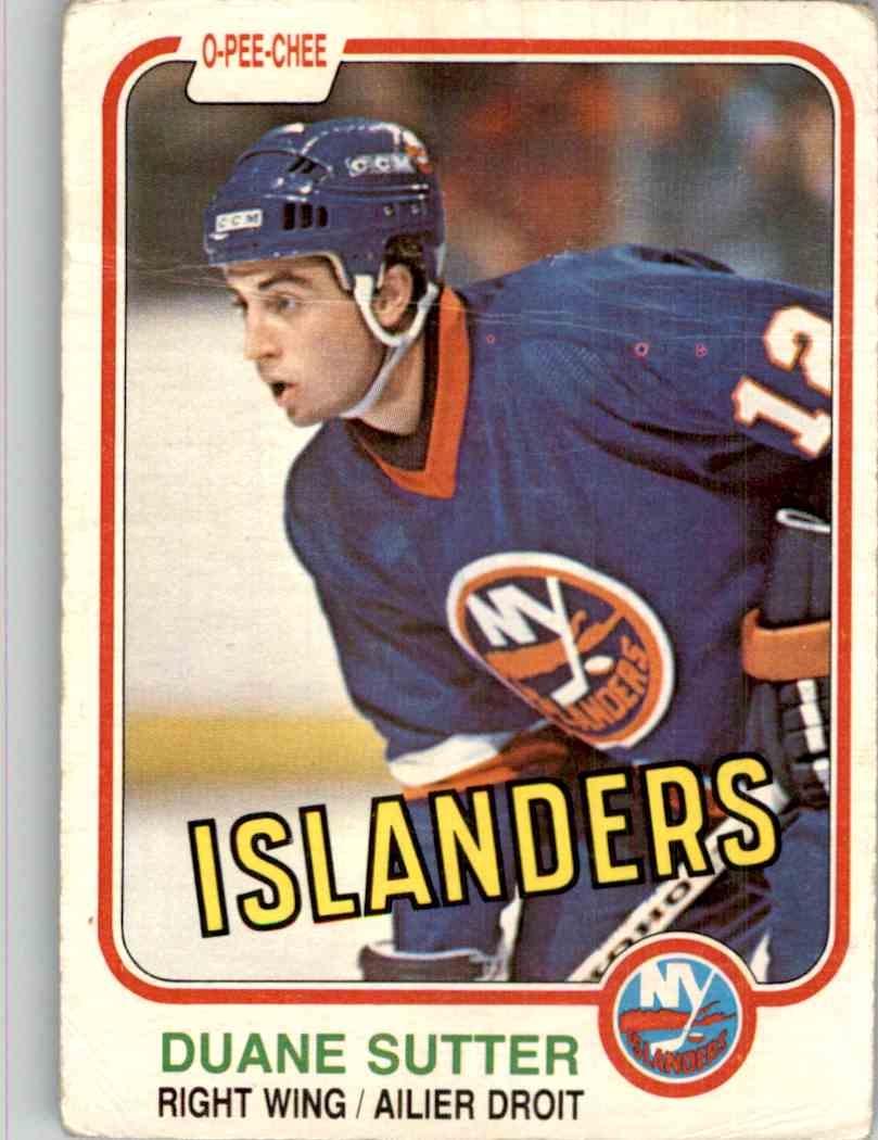 1981-82 O-Pee-Chee Duane Sutter #211 card front image