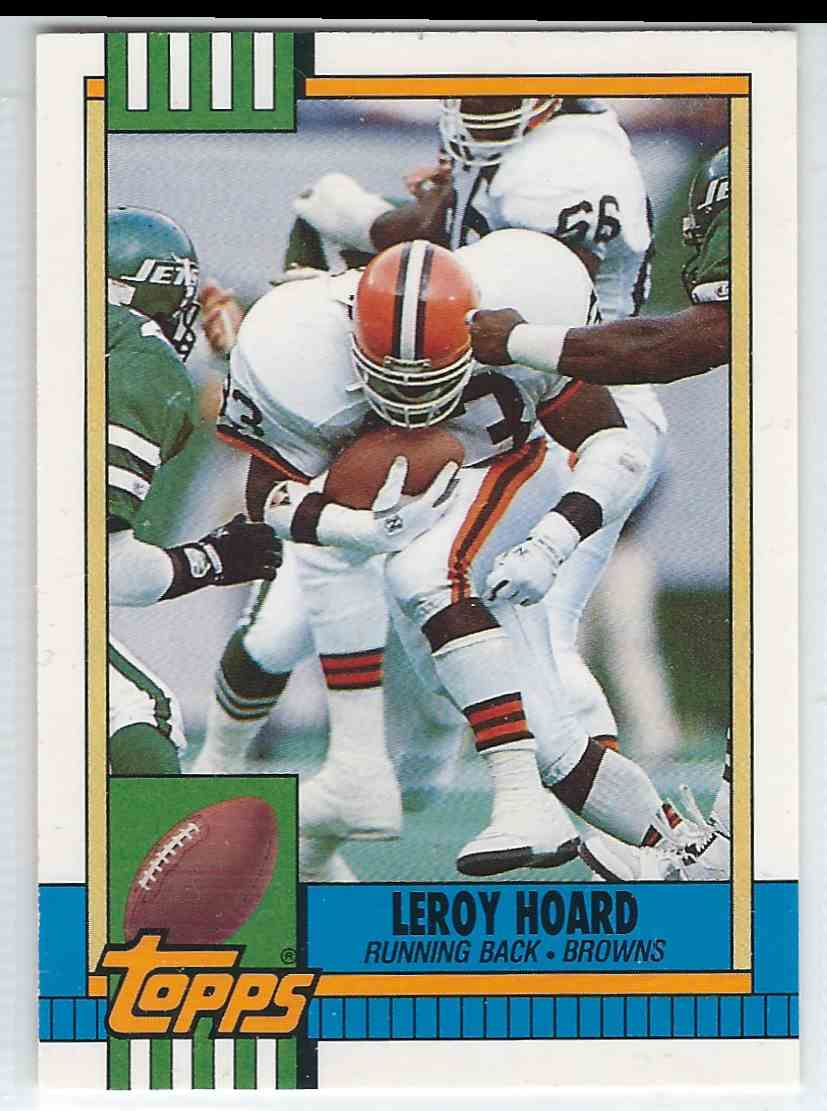 1990 Topps Traded Leroy Hoard #39T card front image