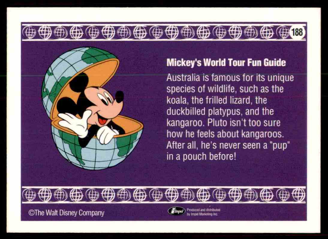 1991 Disney Series One G'day, Mate #188 card back image