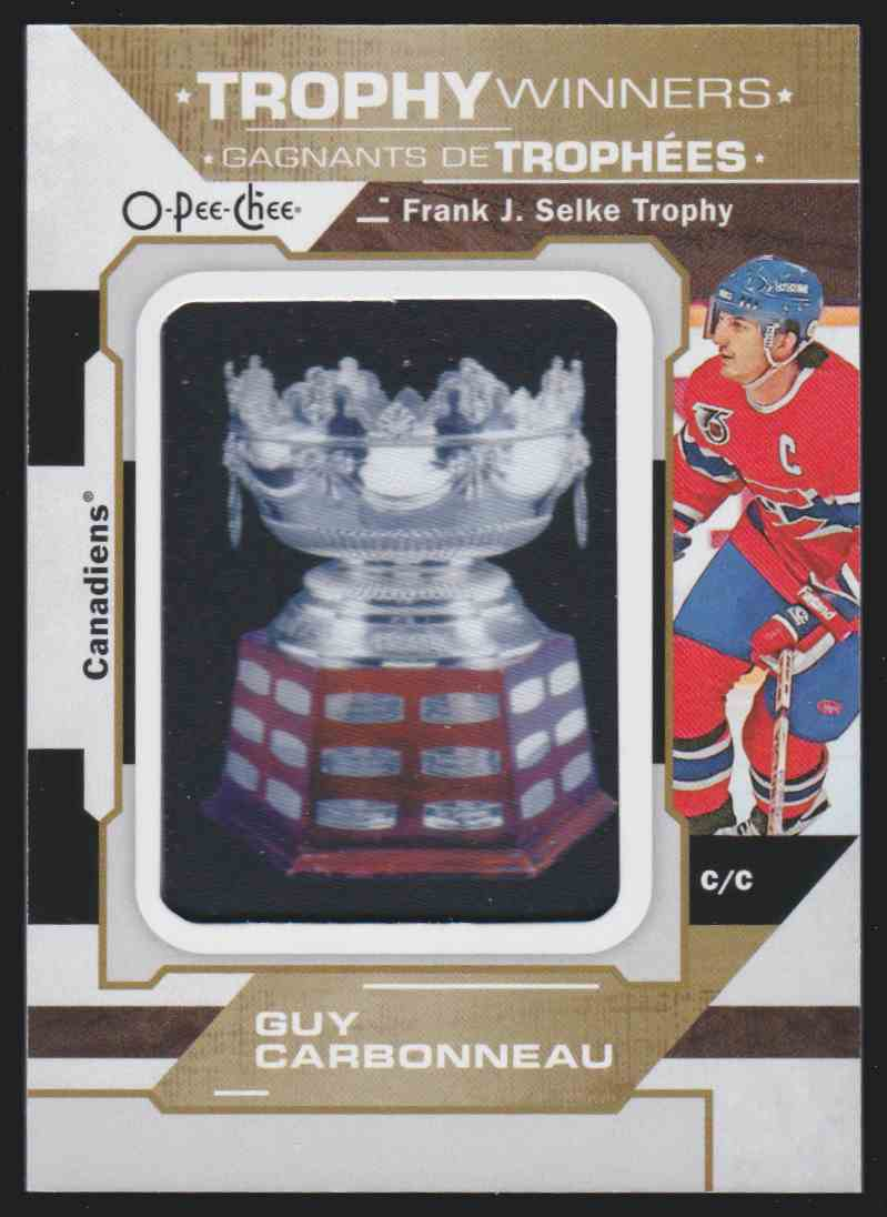 2019-20 Upper Deck Hockey O-Pee-Chee Guy Carbonneau - Trophy Winner Patch #P-20 card front image