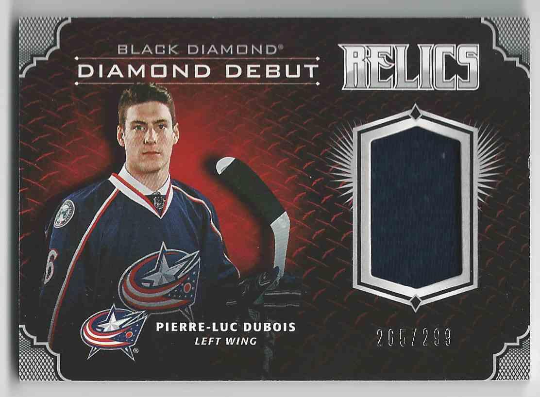 2017-18 Black Diamond Diamond Debut Relics Pierre-Luc Dubois #DD-PD card front image