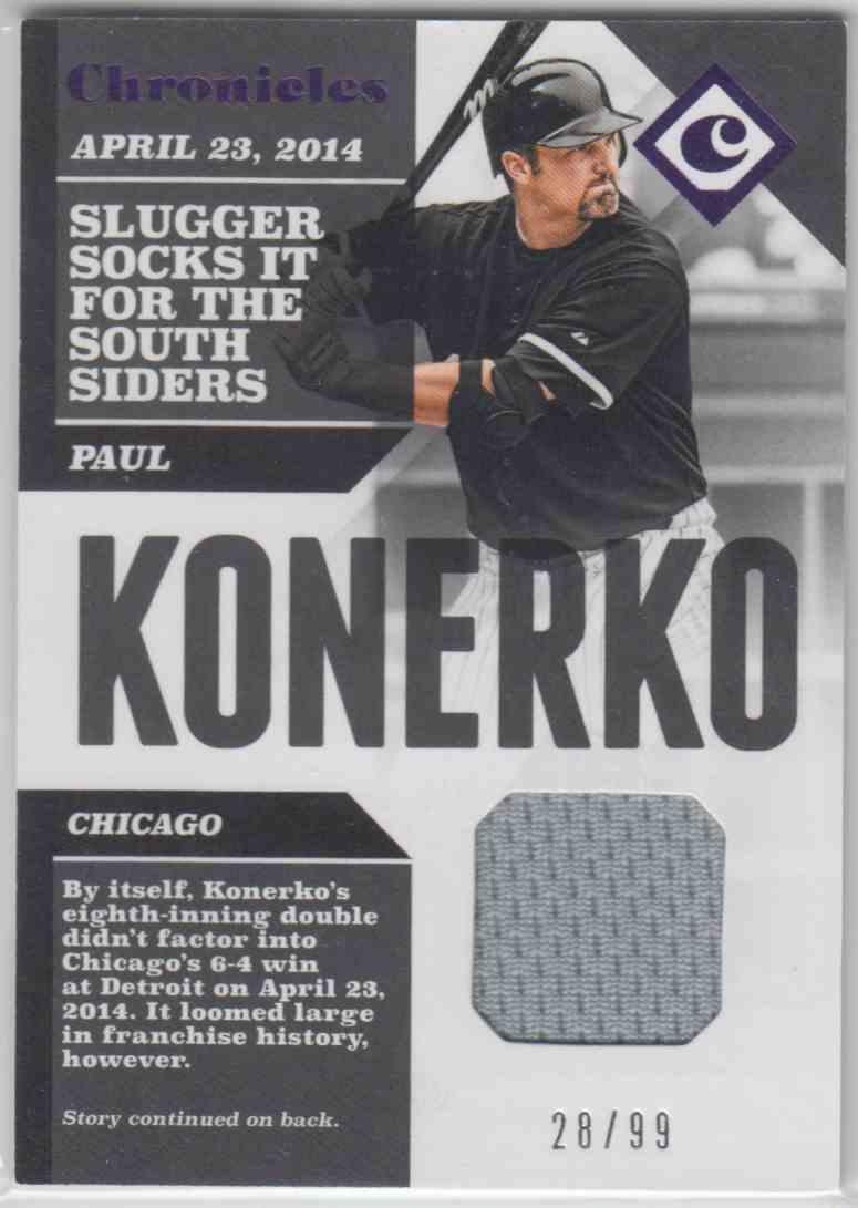 2017 Panini Chronicles Chronicles Swatches Purple Paul Konerko #CS-PK card front image
