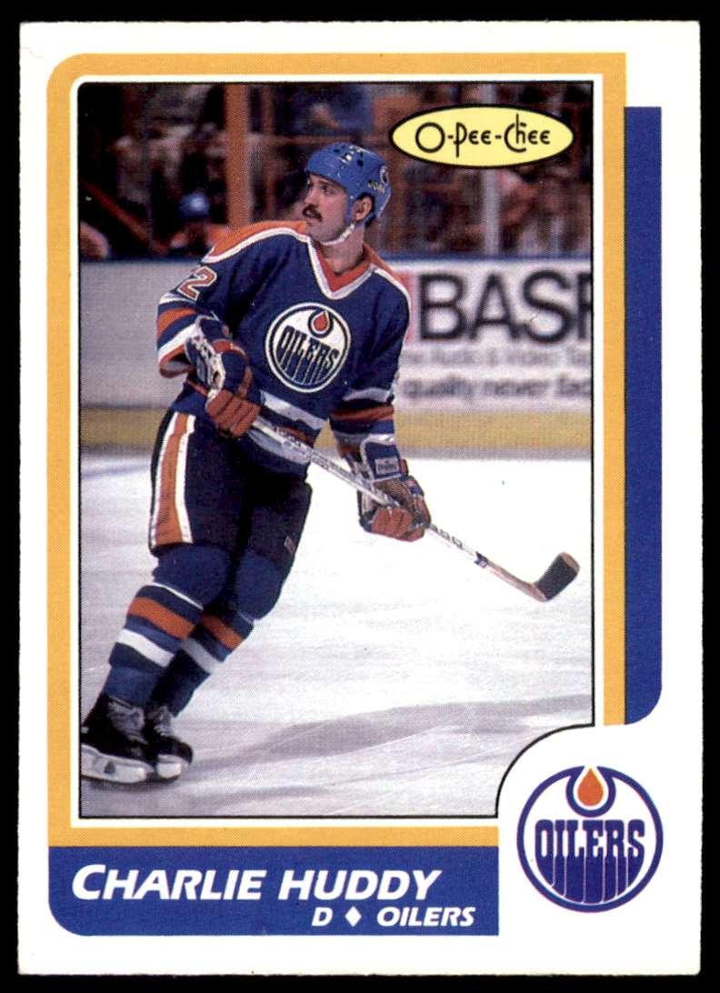 1986-87 OPC Charlie Huddy #211 card front image