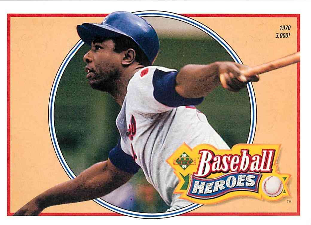 1992 Upper Deck Baseball Heroes Hank Aaron 22 Of 27 On Kronozio