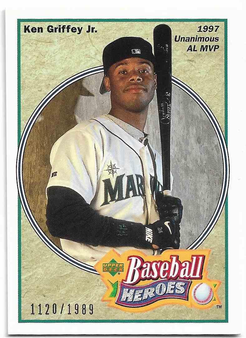 2002 Upper Deck Baseball Heroes Ken Griffey JR. #HB-G4 card front image