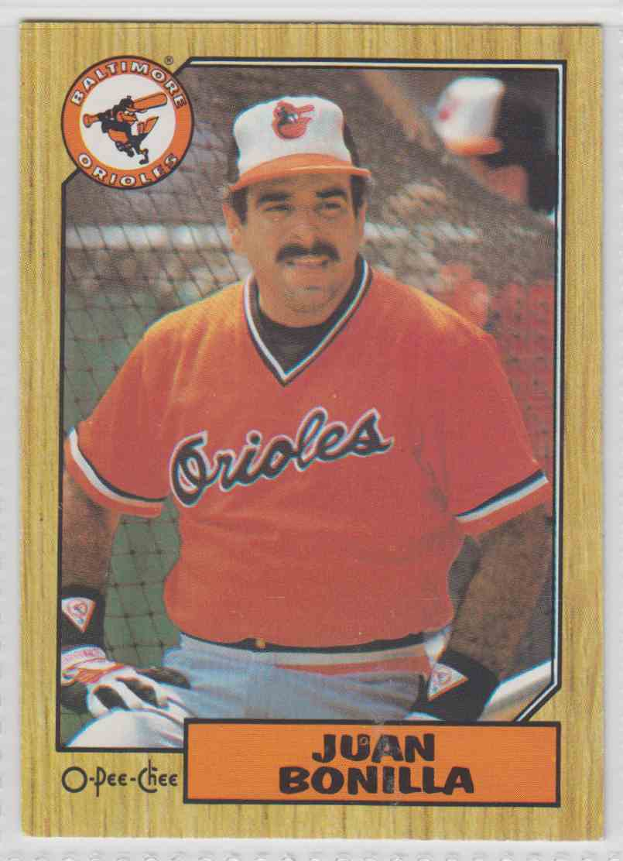 1987 O-Pee-Chee Juan Bonilla #131 card front image