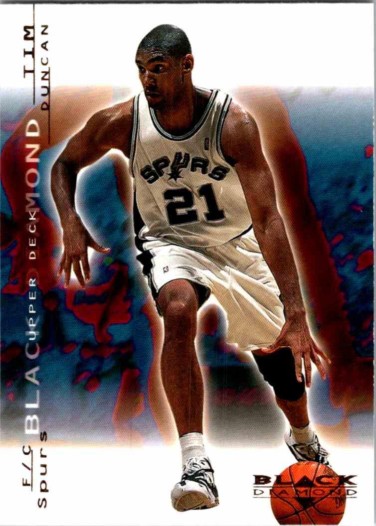 2000-01 Upper Deck Black Diamond Tim Duncan #73 card front image