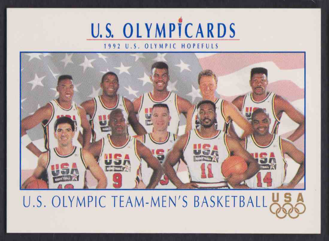498b11b6822 1992-93 Impel USA Men's Basketball Team Michael Jordan Larry Bird #18 card  front