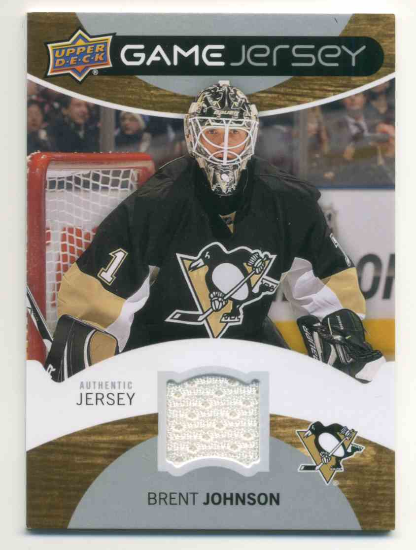 2011-12 Upper Deck Game Jersey Brent Johnson #GJ-BJ card front image