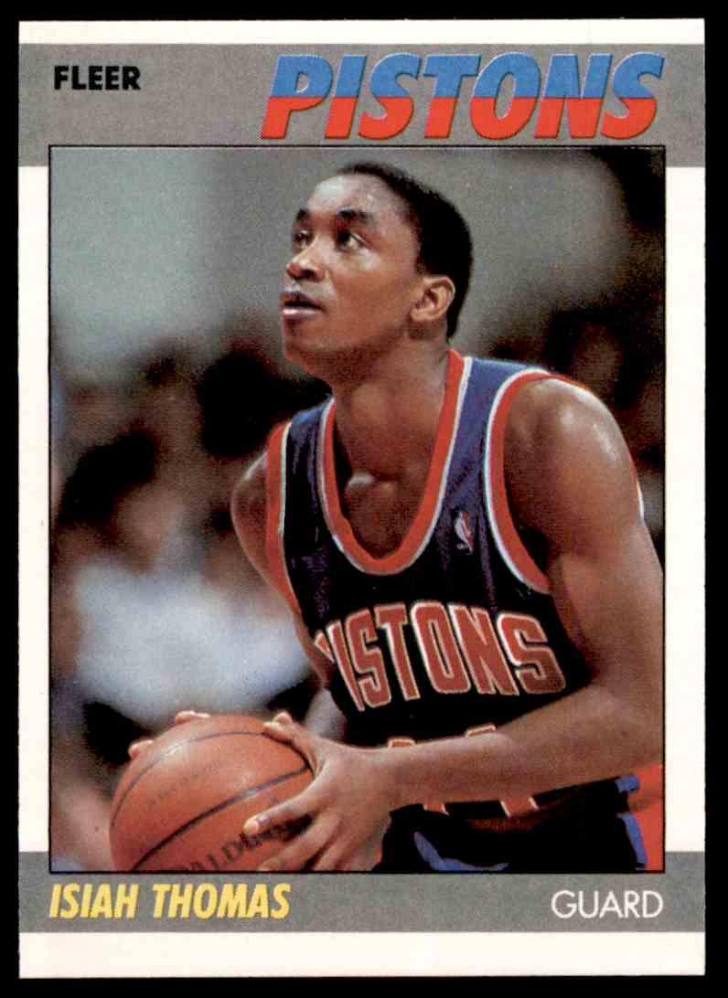1987-88 Fleer Basketball Isiah Thomas #106 card front image